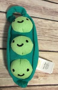 """Gymboree Peas In A Pod Plush Baby Rattle 7"""""""
