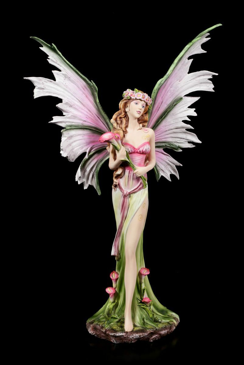 Fairies Figurine - Florana with Flowers - Elf Fairy Statue Decor Fantasy