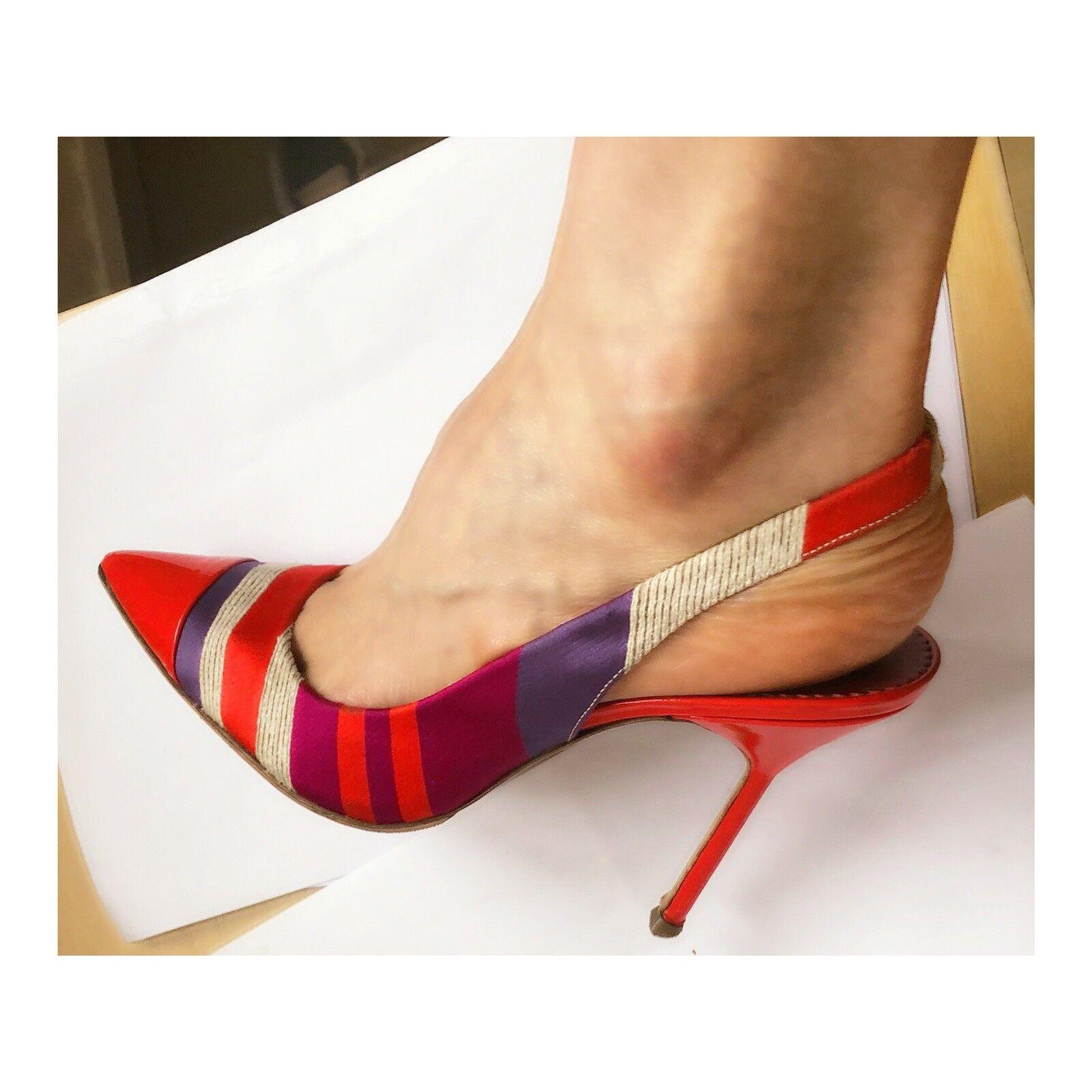 Carolina Herrera Bride Arrière Chaussures Eu 39, UK 6. peu utilisé.