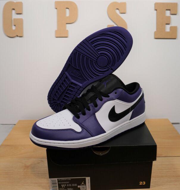 Nike Air Jordan 1 Low Court Purple 12 Mens Shoes 553558 500