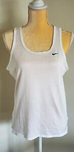 Nike-Womens-Tank-Top-White-Athletic-Medium-M-Preowned