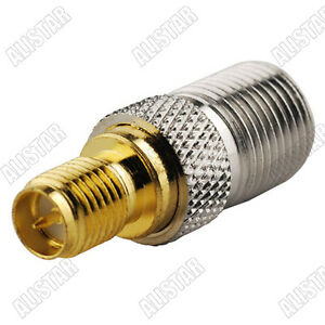 10pcs-RP-SMA-Female-male-pin-to-F-Type-Female-Jack-Coax-RF-Adapter-Connector