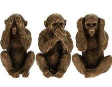 Monkey Statue Three Wise Monkeys Bronze Sculpture See No Hear No Speak No Evil