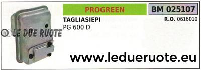 0616010 Marmitta Scarico Tagliasiepi Tosasiepe Progreen Greencut Pg 600 D Rendere Le Cose Convenienti Per Le Persone