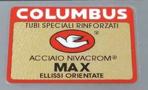 Bicycle Columbus MAX Ellissi Orientate Rinforzati Frame /& Fork Decals Stickers