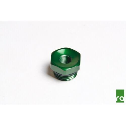 Radium Engineering 14-0119 Adapter Fitting 3//4-16 O-Ring To 1//8 NPT Female Green