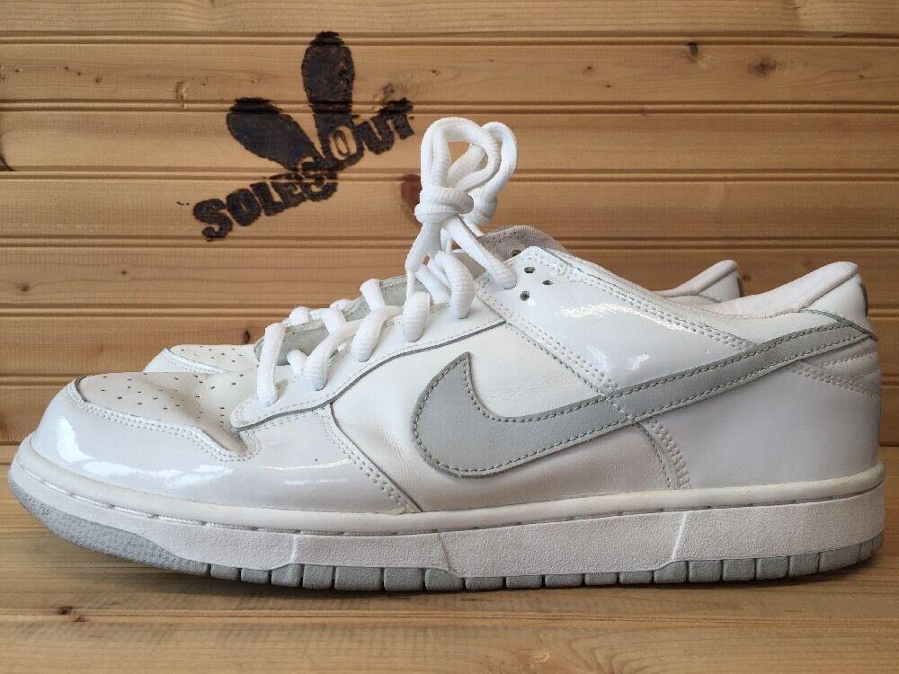2018 Nike Dunk Low Pro sz 13 White Neutral Grey SB B 1st Edition 624044-101