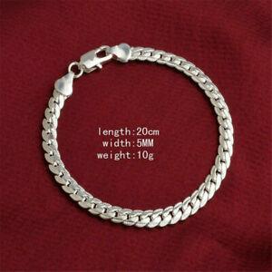2019-Women-925-Solid-Silver-Bracelet-Jewelry-Snake-Chain-Bangle-Gift-5MM-Fashion
