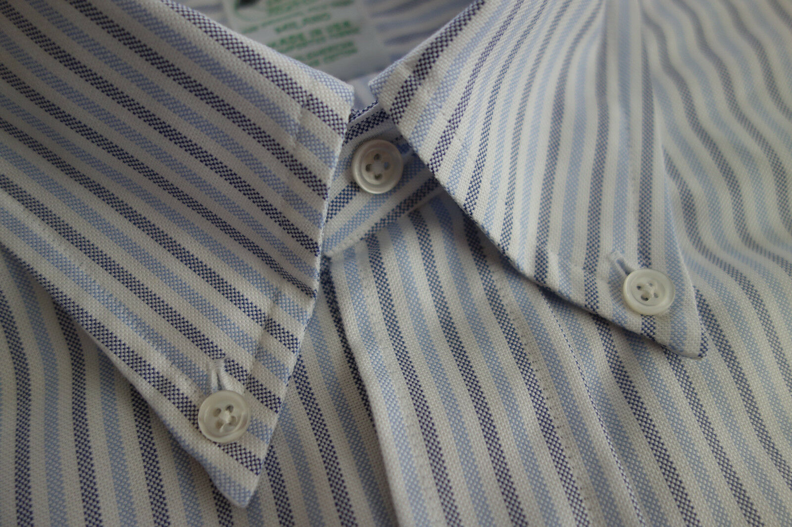 NWOT Brooks Bredhers bluee White Oxford Button Down 14.5-31 Milano MSRP