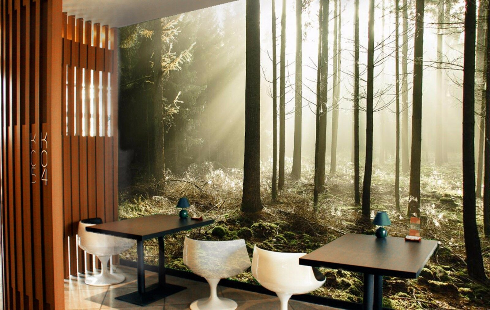 3D Forest fog 3421 Wall Paper Wall Print Decal Wall Deco Indoor Wall Murals