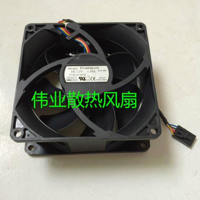 Dell Foxconn 12V 1.5A Fan PVA092K12N 6YVJR Replacement Fan 4 Pin 90x90x38mm