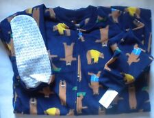 486e59b07 item 8 NWT Carters Boys Size 14 Fleece Footed Feety Feet Pajamas Exercise  Bears pattern -NWT Carters Boys Size 14 Fleece Footed Feety Feet Pajamas  Exercise ...