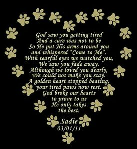 Personalized-Pet-Memorial-Poem-Name-Plate-Multiple-Sizes-amp-Poem-Choices-Dog-Cat