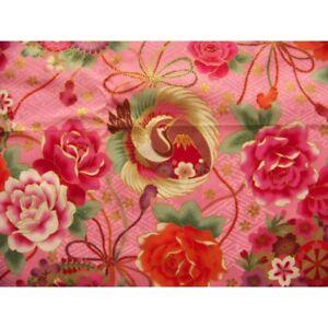 Japanese-tissue-coupon-55x49cm-fuji-bridge-crane-wheel-golden-flower-pink-19-sayagata