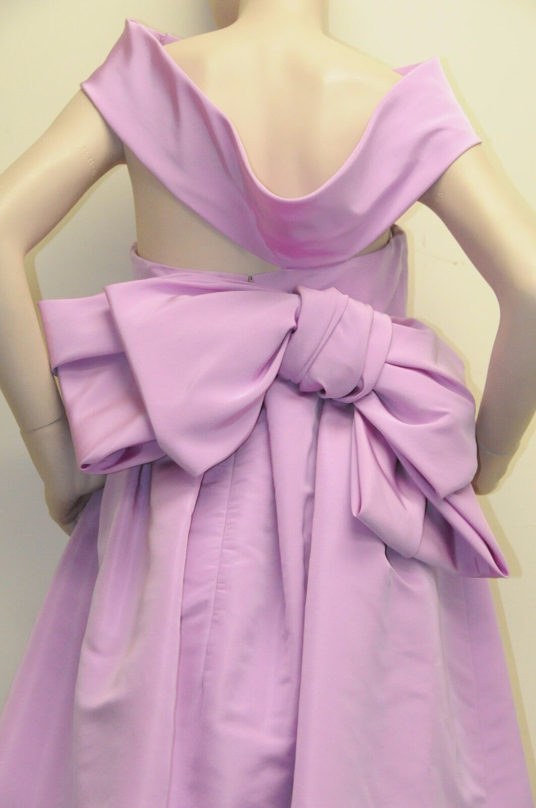 8690 New Oscar Oscar Oscar de la Renta purpleC Purple Dip Dyed Silk Faille Gown Bow DRESS 8 08ba92