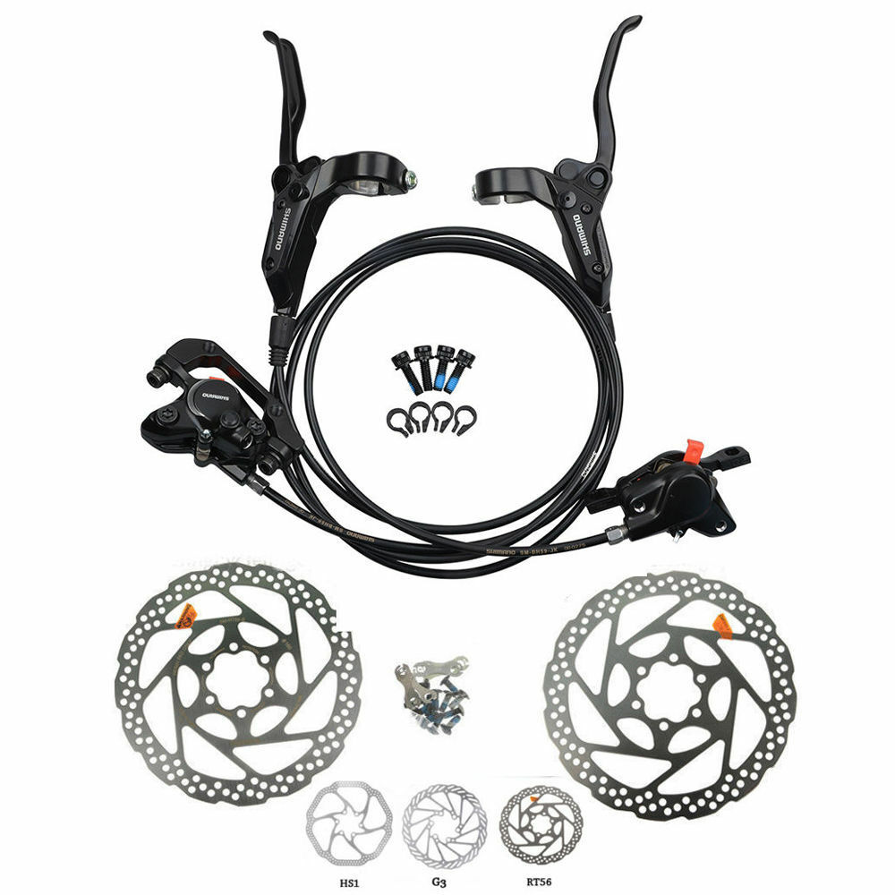 ShimanoM315 M355 M395 MT200 MTB Hydraulic Disc Brakes  Set Pre-Filled with redors  wholesale price