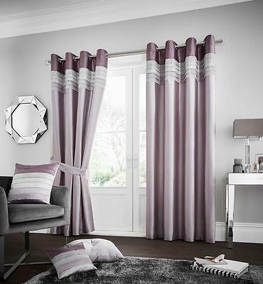 Luxury Curtains Living Room Bedroom  66x72 66x90 90x90 Lined Pair Eyelet Door