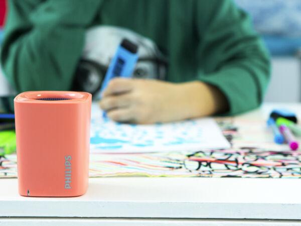 Philips Bt100m/00 2w Wireless Bluetooth Portable Speaker Built-in Microphone