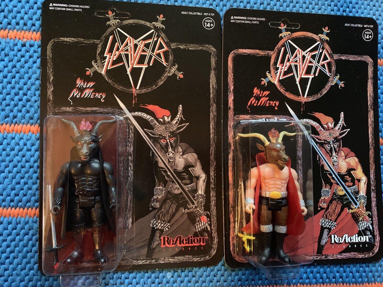 Super 7 reacción King Diamond Slayer Mercyful Fate Figura de Acción Brillan en Oscuridad Lp