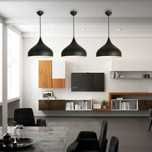 3x Black Pendant Lighting Bar Lamp Kitchen Pendant Light