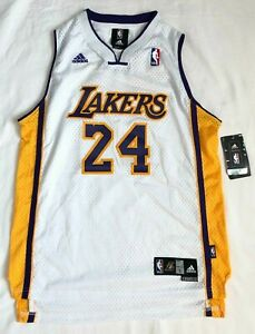Details about NBA Junior Size Length 2 14-16 Los Angeles Lakers Adidas White Jersey Bryant #24
