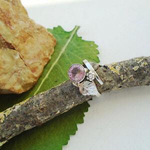 Kunzit-Bluete-amp-Blatt-rosa-Design-Ring-19-0-mm-925-Sterling-Silber-neu