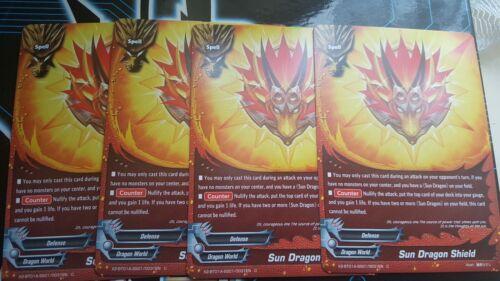 X2-BT01-SS01//0031EN Sun Dragon Shield Common ×4 Future card Buddyfight