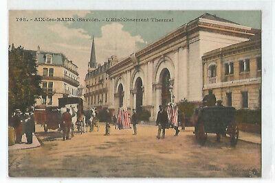 Aix Les Bains Etablissement Thermal France Vintage Color