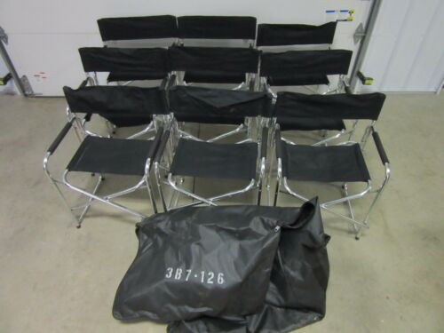"""9 Director Aluminum Folding Chair 30/"""" Outdoor Party Camping Tailgate Seating"""