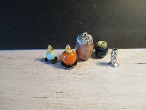 5 DOLLS HOUSE miniatura ornamenti in ceramica