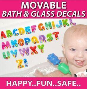 ABC MOVABLE Bath Stickers - Make Bath Time Fun