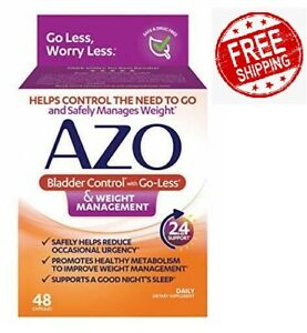 AZO Bladder Control with Go-Less & Weight Management Dietary Supplement 48 cps