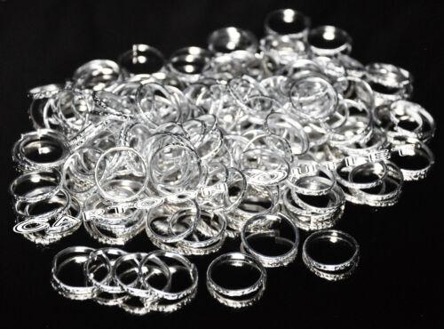 48 X SILVER RINGS BANDS WEDDING PARTY FAVORS DECORATIONS RECUERDOS BODA ANILLOS