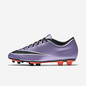 b69eb1207 Nike Mercurial Vortex II FG Soccer Cleats Shoes Boots Purple 651647 ...