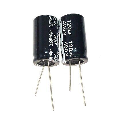 2PCS 400V 150uF 400Volt 150MFD 105C Aluminum Electrolytic Capacitor 18×30mm