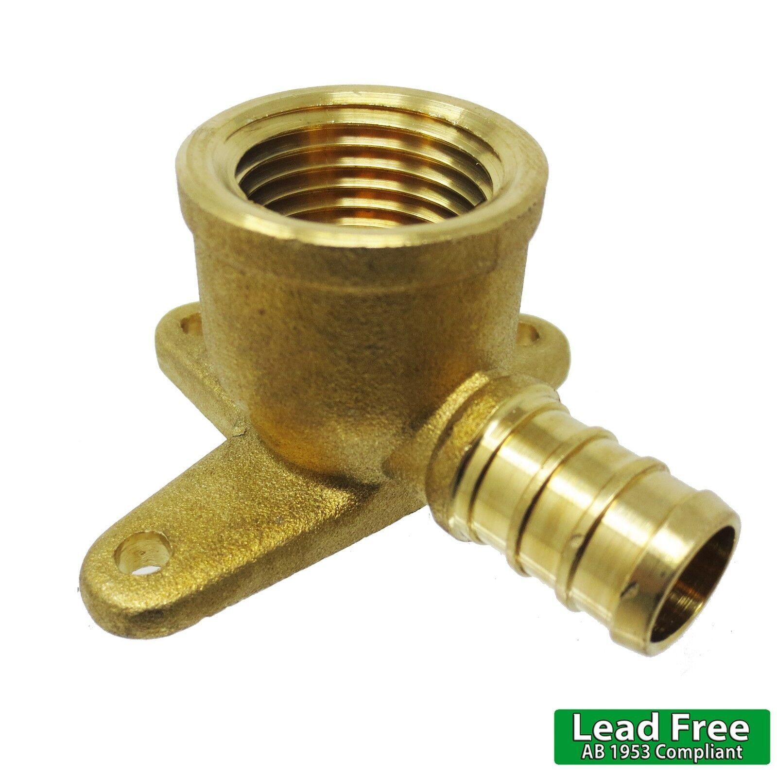 "LEAD-FREE Brass Crimp Fitting 3//4/"" PEX x 1/"" Male NPT Threaded Elbow"