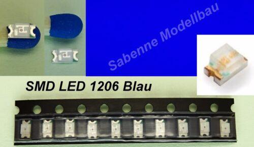 10 Stück SMD LED 1206 Blau C2894