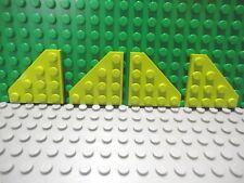 LEGO Set of 4 New Round Corner Plates 4x4 Lime Green Star Wars Batman Scooby-Doo