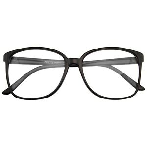 Large-Oversized-Geek-Fashion-Glasses-Clear-Lens-Thin-Frame-Nerd-Glasses