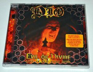 Dio evil or divine live NYC NEU CD Hype Aufkleber Ronnie James Dio