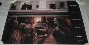 Nortel-Networks-Del-Telecom-Vintage-Poster-034-No-More-Gremlins-034-Alrededor-1998