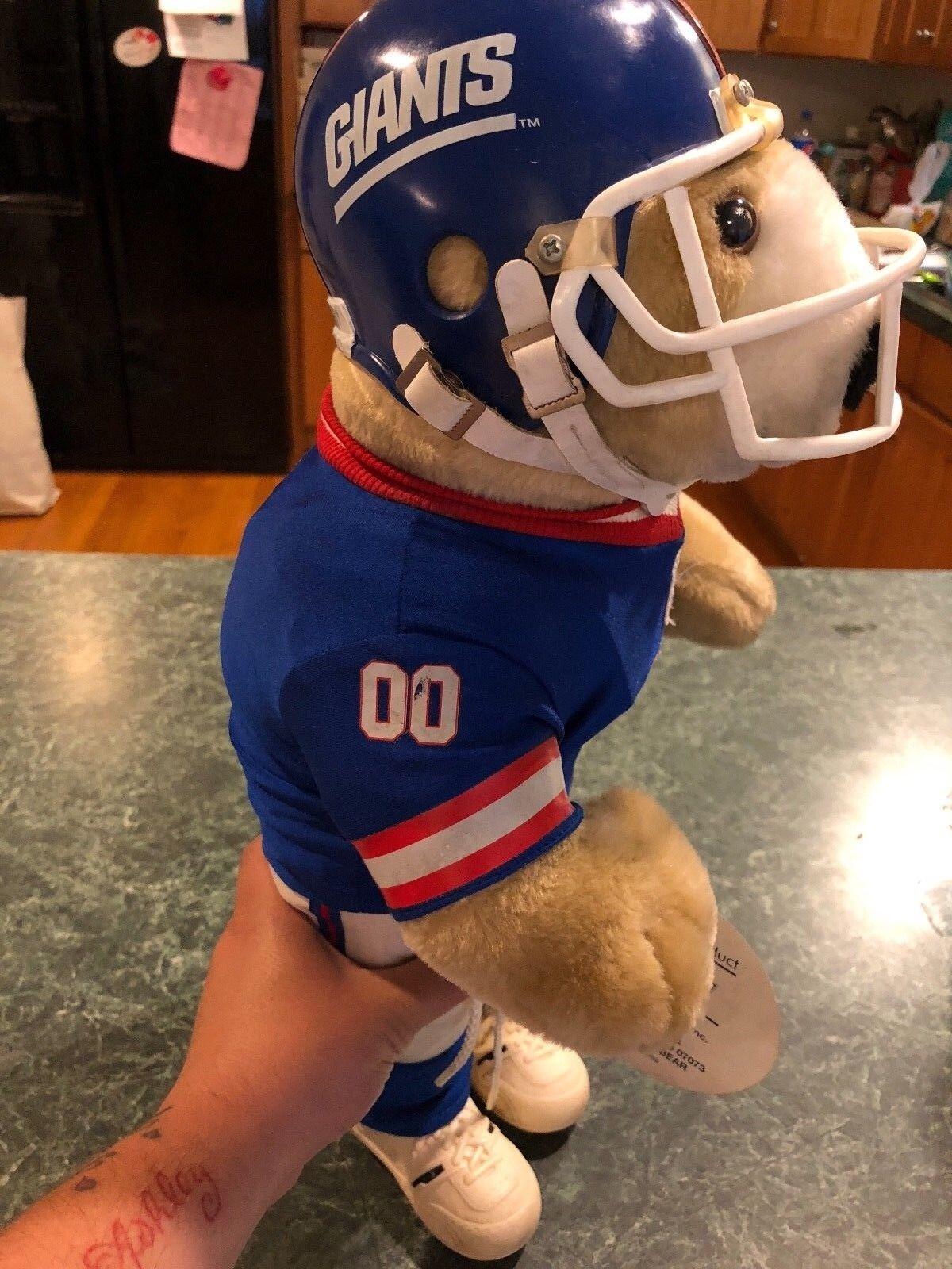 Vintage NFL Pro Bear NEW YORK Full GIANTS Full YORK Uniform TEDDY BEAR 20