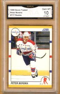 1990-91-Score-Rookie-Traded-71T-Peter-Bondra-RC-Graded-GEM-MINT-10