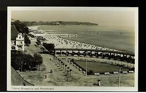 1939 Danzig RPPC Postkarte Abdeckung Zoppot Kurgarten Strand