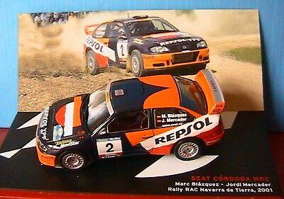 Die cast 1//43 Modellino Auto Seat Cordoba WRC Rally RAC Navarra de Tierra 2001