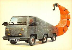 Carte-Postale-Signe-du-ZODIAC-SCORPION-serie-Automobile