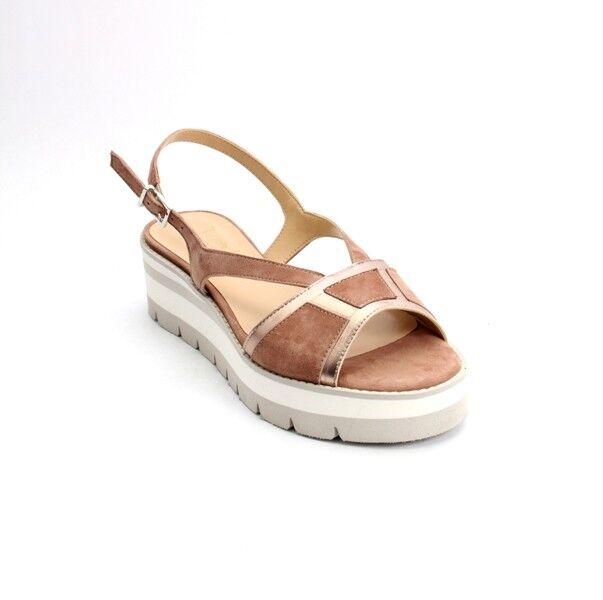 Luca Grossi 683a Brown / Bronze / Suede Pelle Platform Sandals 36 /   6