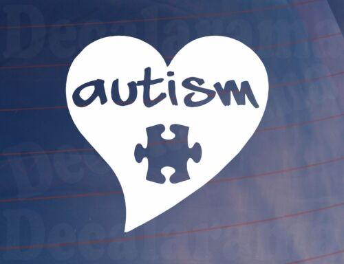 Car Sticker AUTISM Love Heart//Jigsaw Mental Health Van Window Bumper Boot Laptop