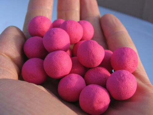 Maggot Hi Vis Pink Carp Pop ups 15mm Maggots Flavour Fishing Bait