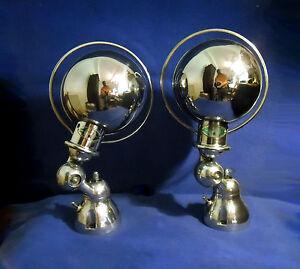 paire appliques lampe jielde ancienne polie miroir ebay. Black Bedroom Furniture Sets. Home Design Ideas